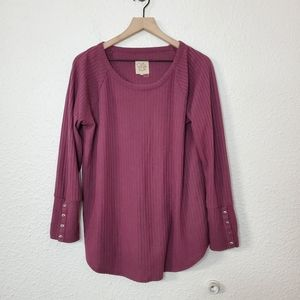 Chaser Long Sleeve Waffle Thermal Tunic